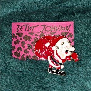 Betsey Johnson Santa Pin🎅🏻